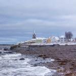 Bord de mer et neige
