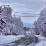 Première neige à Métis-sur-mer