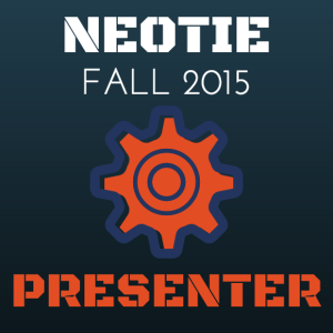NEOTIE Presenter Fall 2015 Badge