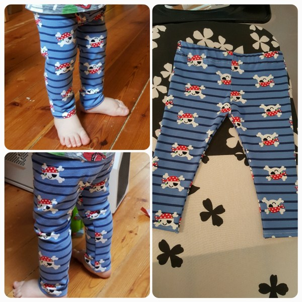 Pirate leggings, what every 1 year old needs!