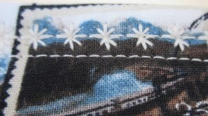 Decorative stitches.