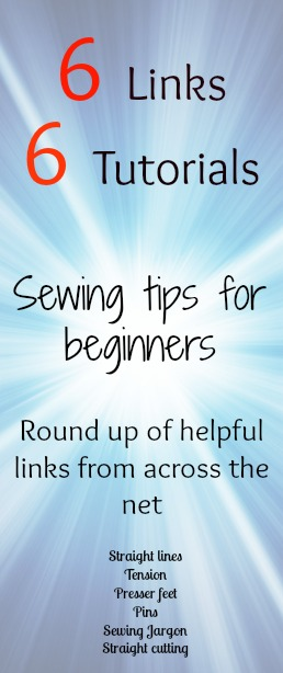 6 beginner sewing tutorial links all in one place.