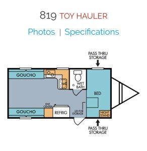 The floor plan includes everything you want in a travel trailer and the ability to use the cargo space for whatever you want.