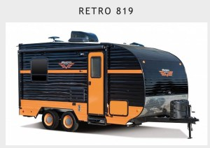 With an exterior color change I think the Riverside Retro toy hauler has great possibilities for the Girl Camper with toys! Those toys could be kayaks, paddle boards, four wheelers or a traveling art show, mobile business or just an open concept trailer that could hold a crowd!