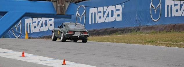 Z car on track