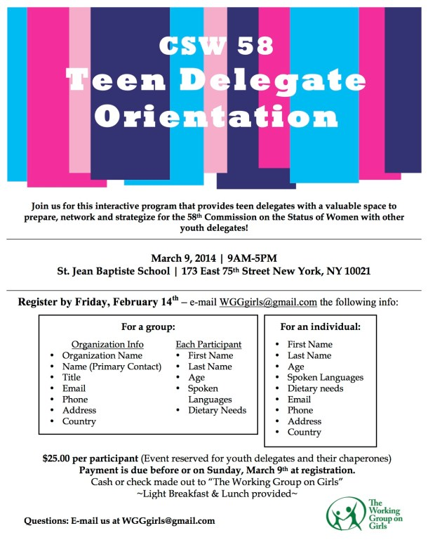 Registration flyer copy