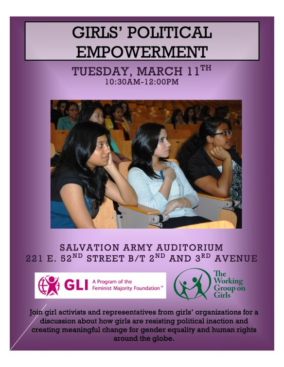 Flyer for Girls' Political Empowerment copy