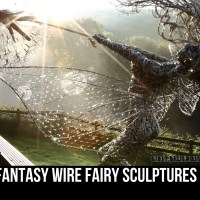 Fantasy Wire Fairy Sculptures