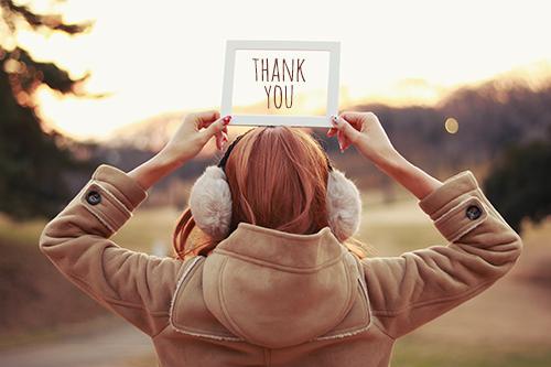 写真スタンプ:『THANK YOU』のフリー写真素材(商用可)