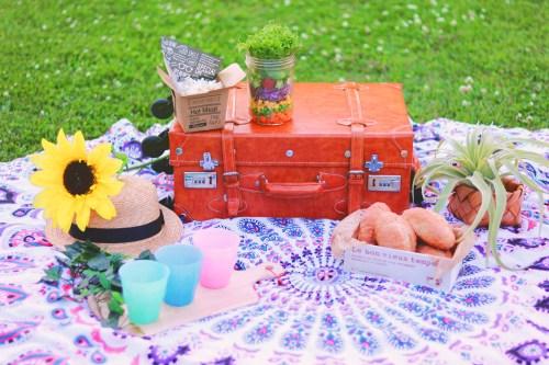 いま流行りのおしゃれなピクニックのフリー写真素材(商用可)