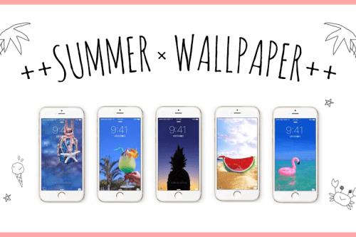 オシャレで可愛い夏のiPhone壁紙をリリースしたよー!のフリー写真素材(商用可)