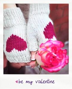 be my valentine figerless gloves knitting pattern