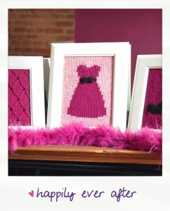 happily ever after knitted wall art knitting pattern