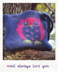 owl always love you felted owl purse knitting pattern