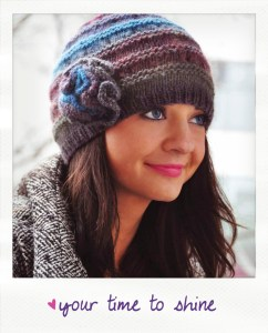 your time to shine boho flower hat and mitten set knitting pattern