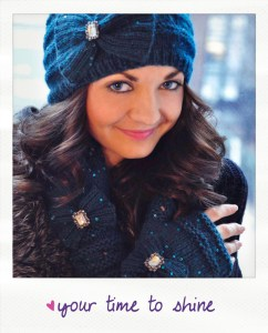 your time to shine sequin hat and mitten set knitting pattern