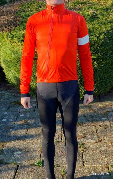 Rapha Rain Jacket in Orange. Great colour!