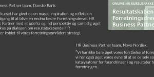 Online HR Kursus for HR Business Partner @ Gitte Mandrup