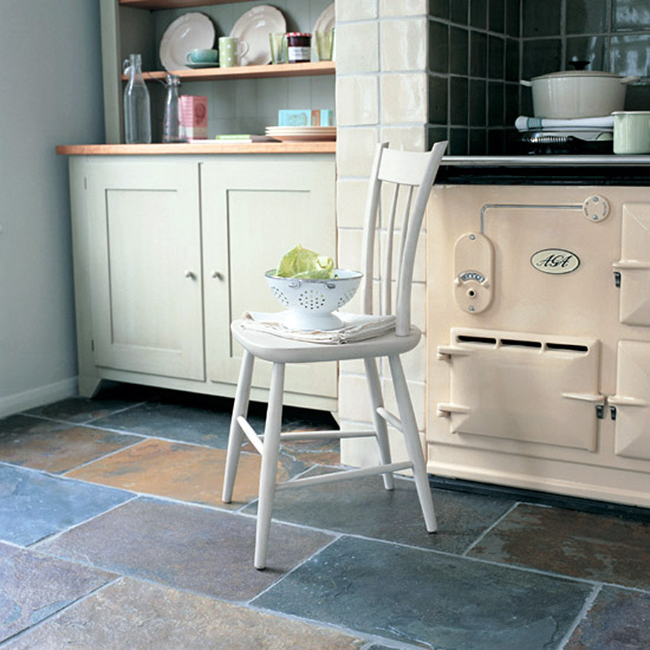cottage kitchen flooring continued kitchen floors Natural Stone Slate Floor