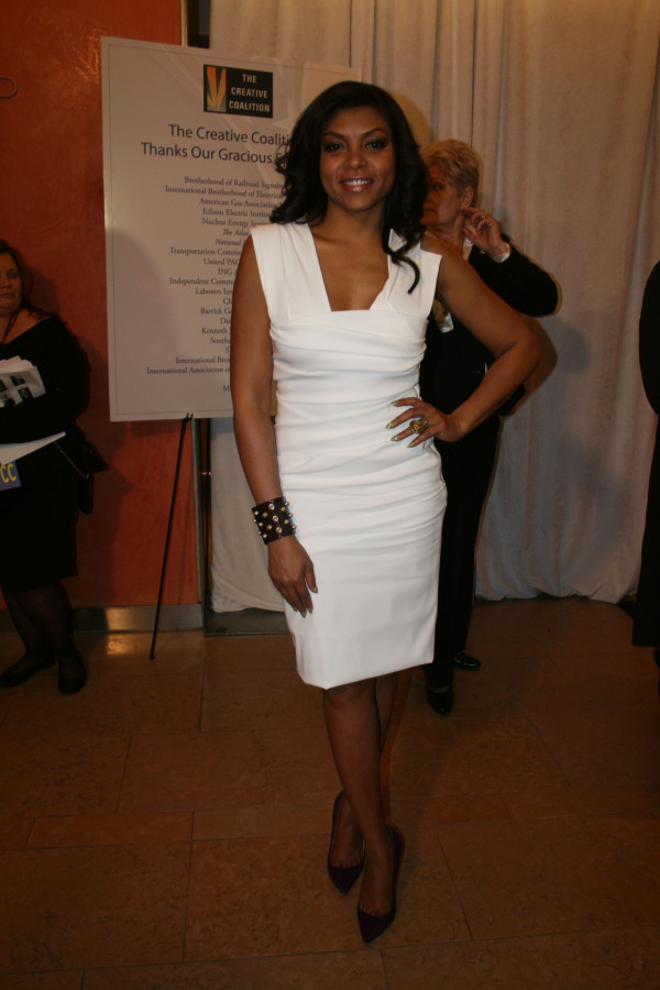 Actress Taraji P. Henson attends Creative Coalition Inauguration Gala in Washington, DC.