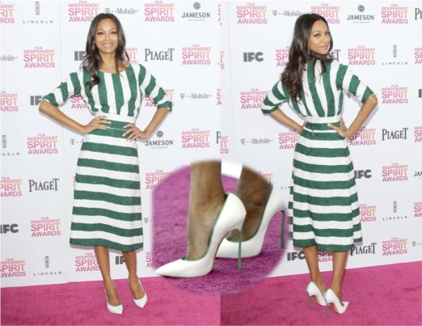 Zoe Saldana in Dolce & Gabbana 2013 Independent Spirit Awards