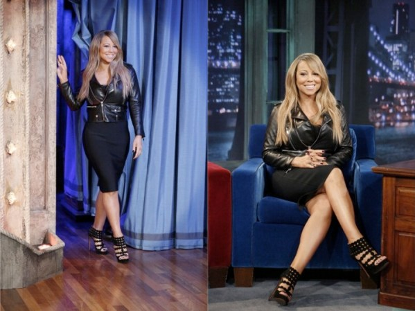 Mariah Carey in Saint Laurent at Late Night with Jimmy Fallon