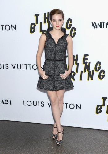 Emma Watson in Chanel at the premiere of A24's