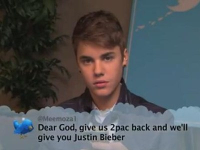 Justin Bieber Reads Tweets Jimmy Kimmel