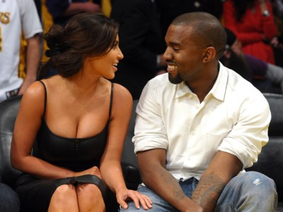Kim Kardashian and Kanye West Getty Images