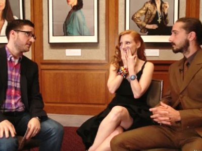 MTV After Hours Josh Horowitz, Jessica Chastain, Shia LaBeouf