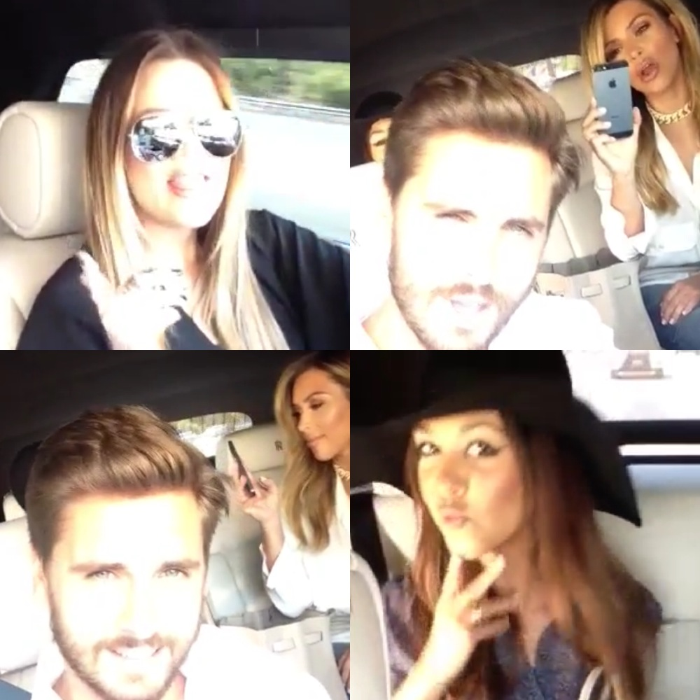 Kim, Kourtney and Khloe Kardashian Sing Along To Drake's Song With Scott Disick [VIDEO]