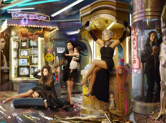 Khloe Kardashian, Mason Disick, Kourtney Kardashian, Penelope Disick, Kris Jenner and Bruce Jenner