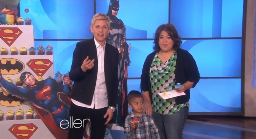 Ellen DeGeneres Sits Down With Little Boy Who Argued With Mom Linda Over Cupcakes [VIDEO]