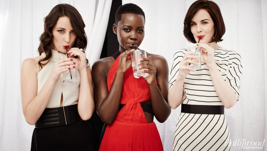 Lupita Nyong'o, Stylist Micaela Erlanger and Michelle Dockery