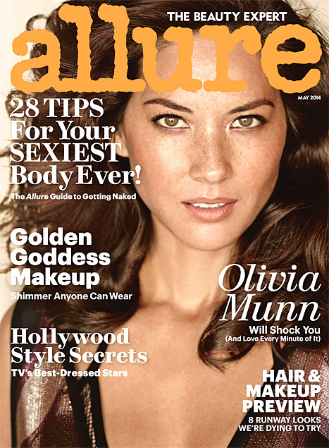 Olivia Munn Covers 'Allure' Naked Issue Featuring Kristen Bell, Minnie Driver, Nia Long and Jenna Dewan Tatum
