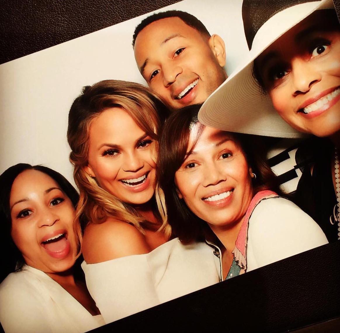 Chrissy Teigen, John Legend and Family At Baby Shower