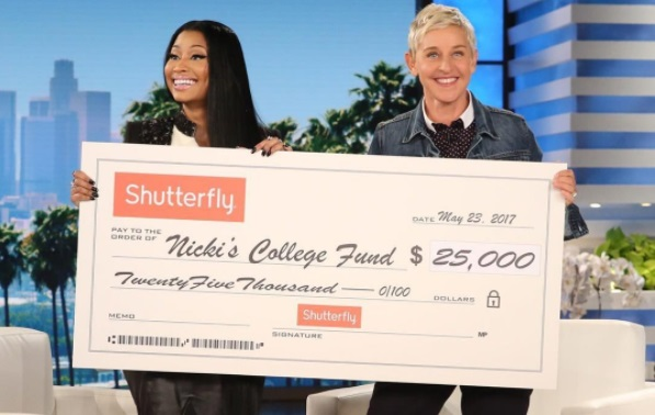 Ellen DeGeneres Donates To Nicki Minaj's College Fund Initiative
