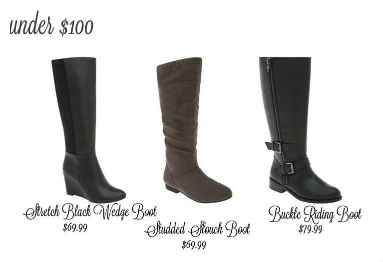 Wide Calf Boots under $100