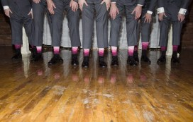 fun pink groomsmen socks