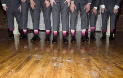 fun pink groomsmen socks