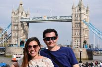 Jeff and I in front of my favorite bridges to date, the Tower Bridge of London
