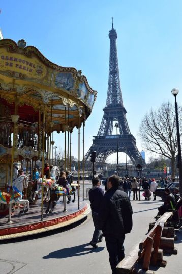 Carousel Rides in front of the Eiffel Tower