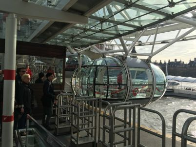 Getting on the London Eye