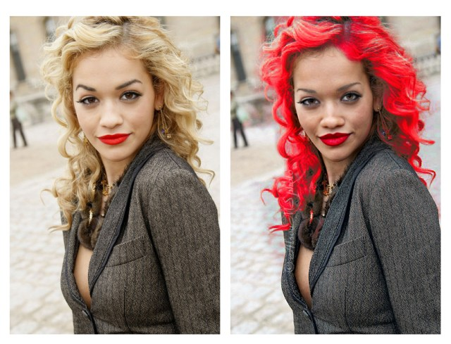 Rita or Rihanna? It's not possible to know which one is which, even without clothing