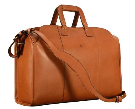 Hand-burnished-chestnut-Litigation-Bag;-22-x-14-x-8