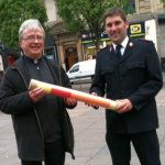 Prayer baton passes through Glasgow with Olympic torch