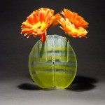 Recycled Window Glass Puzzle Vase