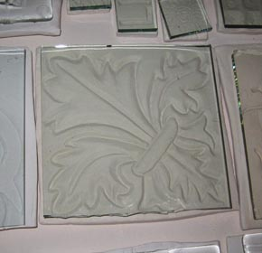 Texture Tile with Glass