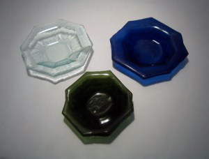 Recycled Fused Bottle Glass Dishes