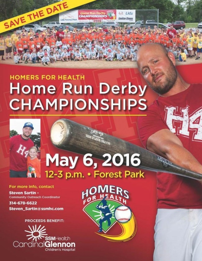 Save the Date for the Homers for Health Home Run Derby Championship - Friday, May 6, 2016 in Forest Park